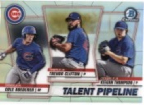 Photo of 2020 Bowman Chrome Talent Pipeline #TPCHI Trevor Clifton/Keegan Thompson/Cole Roederer