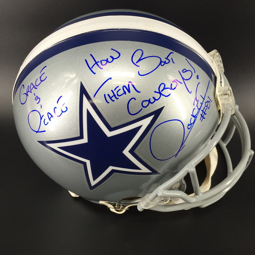 Legends - Cowboys Rocket Ismail Signed Proline Helmet