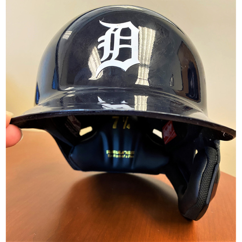 Photo of Jeimer Candelario #46 Detroit Tigers Game-Used Home Batting Helmet  (MLB AUTHENTICATED)