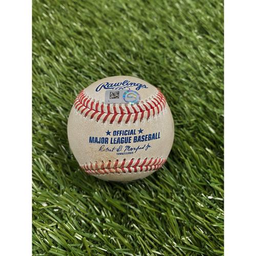 Photo of Adam Eaton Game-Used Single Baseball - 9/13/20 vs. Braves