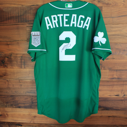 Photo of Autographed 2020 St. Patrick's Day Jersey: Humberto Arteaga #2 - Size 46