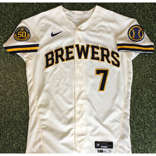 Photo of Eric Sogard 08/03/20 Game-Used Home Opener Jersey