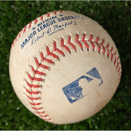 Photo of Javy Baez Game-Used Hit Triple Baseball - 4/29/21 vs. Chicago Cubs