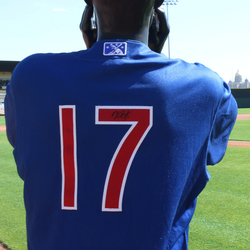 Image of #17 Kris Bryant Game Worn Autographed Jersey