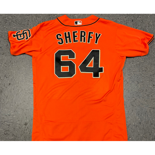 Photo of 2021 Team Issued Orange Home Alt Jersey - #64 Jimmie Sherfy - Size 44