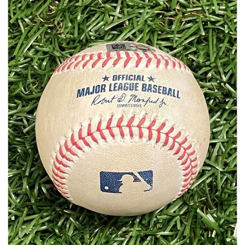 Photo of Game Used Baseball: Scott Kingery single off Josh Fleming - Top 3 - September 27, 2020 v PHI