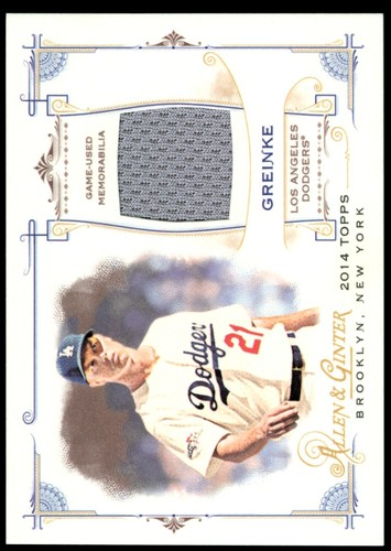 Photo of 2014 Topps Allen and Ginter Relics #FRBZG Zack Greinke B