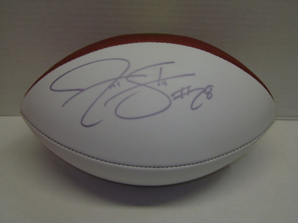 PANTHERS - JONATHAN STEWART SIGNED PANEL BALL