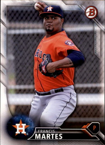 Photo of 2016 Bowman Draft #BD145 Francis Martes -- Astros post-season