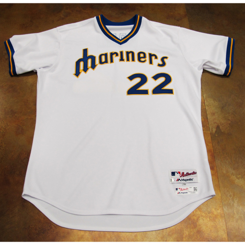 Photo of Robinson Cano Team-Issued TBTC 1977 Jersey/Pants 6/24/17 Size 48