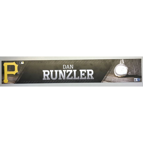 Photo of Dan Runzler Game-Used Locker Name Plate