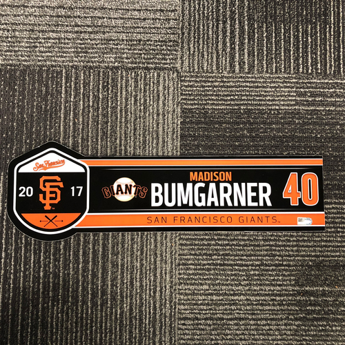 Photo of San Francisco Giants - 2017 Regular Season Locker Tag - #40 Madison Bumgarner
