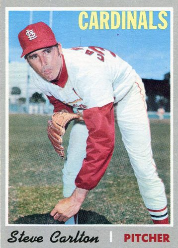 Photo of 1970 Topps #220 Steve Carlton -- Hall of Famer