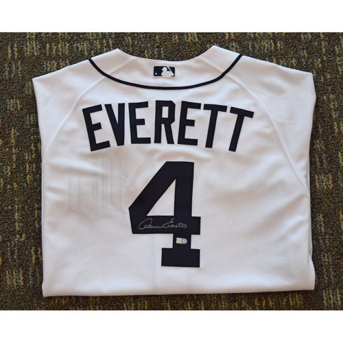 Photo of Adam Everett Autographed Detroit Tigers #4 Home Jersey