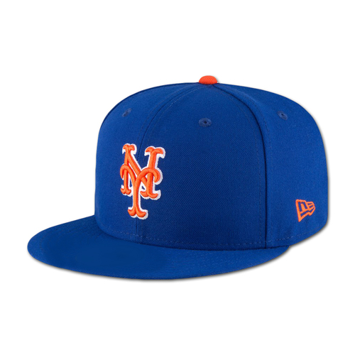Photo of Michael Conforto #30 - Game Used Blue Alt. Home Hat - Worn on 9/13/18 vs. Marlins, and 9/28/18 vs. Marlins