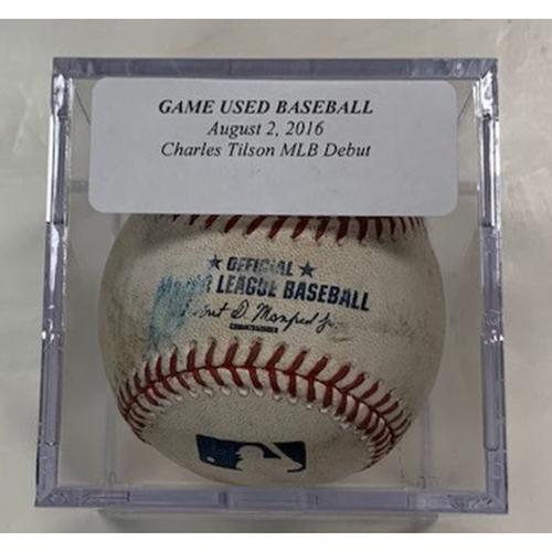 Photo of Game-Used Baseball: Chad Tilson MLB Debut