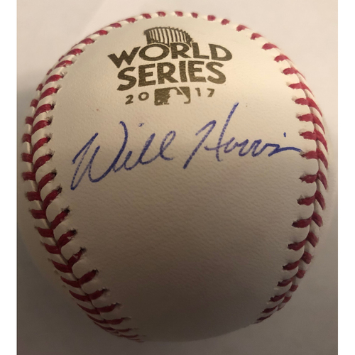 Photo of Will Harris Autographed 2017 World Series Logo Baseball