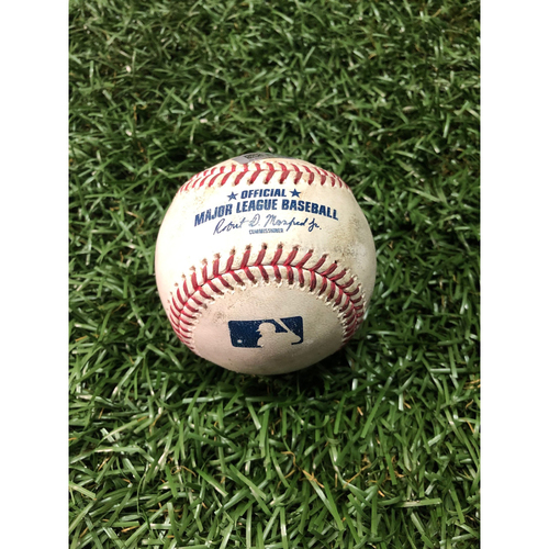 Photo of Game Used Baseball: Gerrit Cole strikes out Austin Meadows - March 29, 2019 v HOU