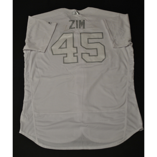 "Photo of Kyle ""ZIM"" Zimmer Kansas City Royals Game-Used 2019 Players' Weekend Jersey"
