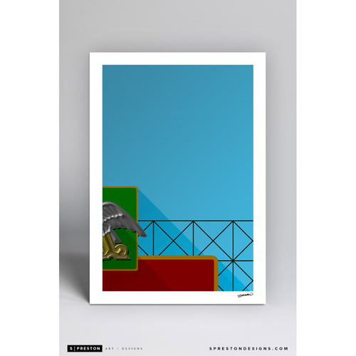Photo of Sportsman's Park - Minimalist Ballpark Art Print by S. Preston  - St. Louis Cardinals