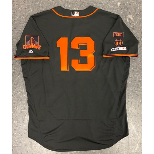 Photo of 2019 Game Used Jersey - Fiesta Gigantes Black Home Alternate Jersey - used by #13 Will Smith on 9/14 vs MIA - Size 52