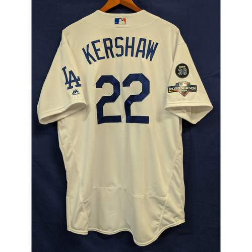Photo of Clayton Kershaw Team Issued 2019 Home Postseason Jersey