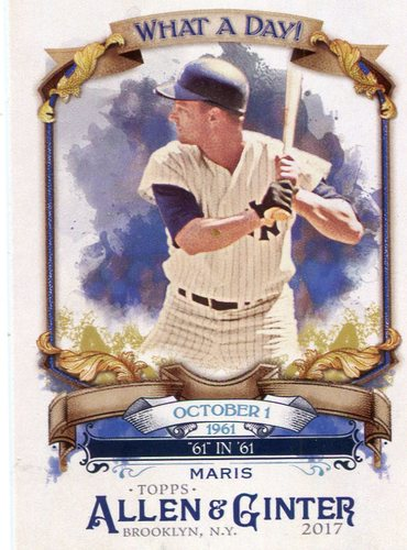 Photo of 2017 Topps Allen and Ginter What a Day #WAD12 Roger Maris