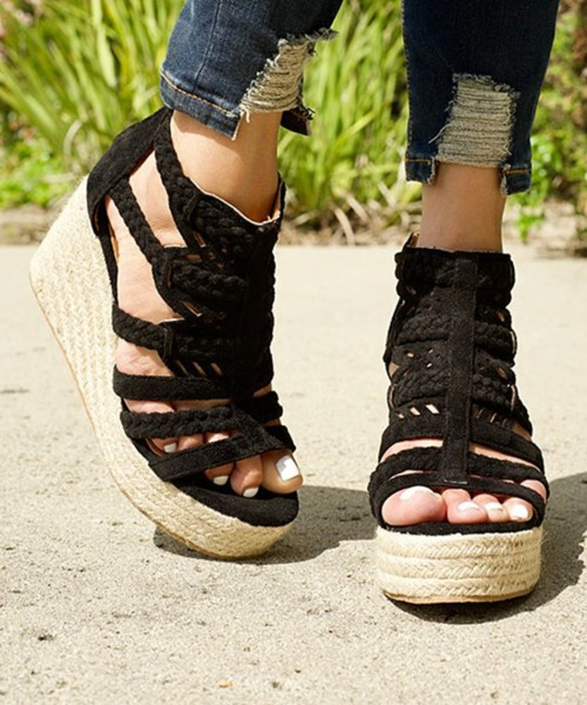 Photo of Mata Shoes Woven Spring Wedge Sandal