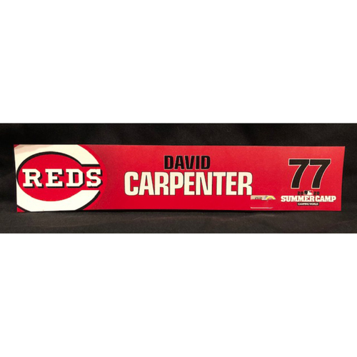 Photo of David Carpenter -- 2020 Sumer Camp Locker Tag -- Team-Issued