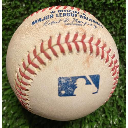 Photo of Gavin Lux Hit Single Baseball off Charlie Morton - June 5, 2021