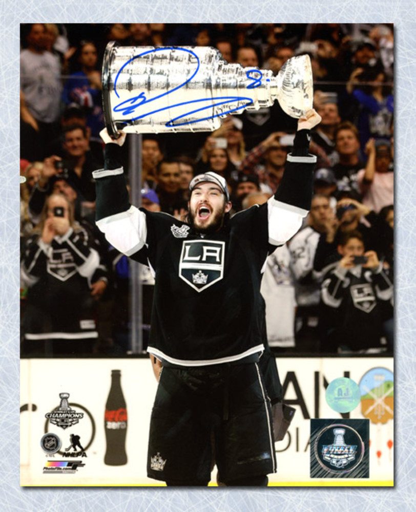 Drew Doughty Los Angeles Kings Autographed 2014 Stanley Cup 8x10 Photo