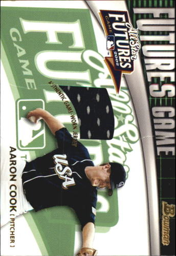 Photo of 2003 Bowman Futures Game Gear Jersey Relics #AC Aaron Cook