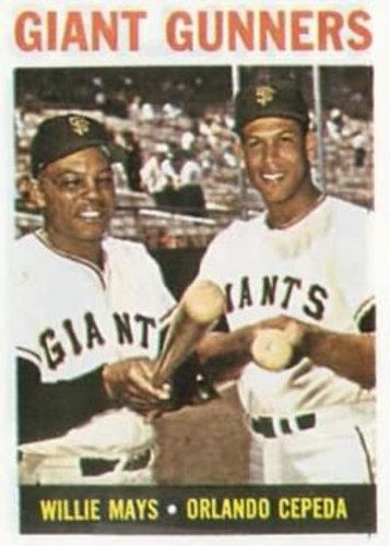 Photo of 1964 Topps #306 Giant Gunners/Willie Mays/Orlando Cepeda