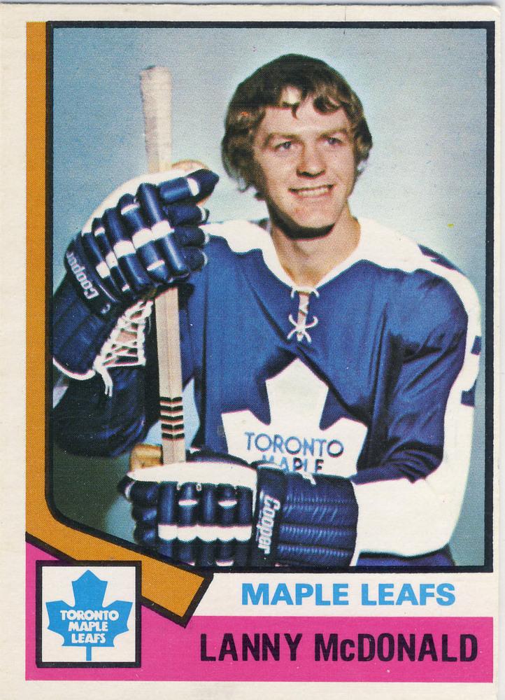 1974-75 OPC #168 LANNY MCDONALD Toronto Maple Leafs EX Rookie Card