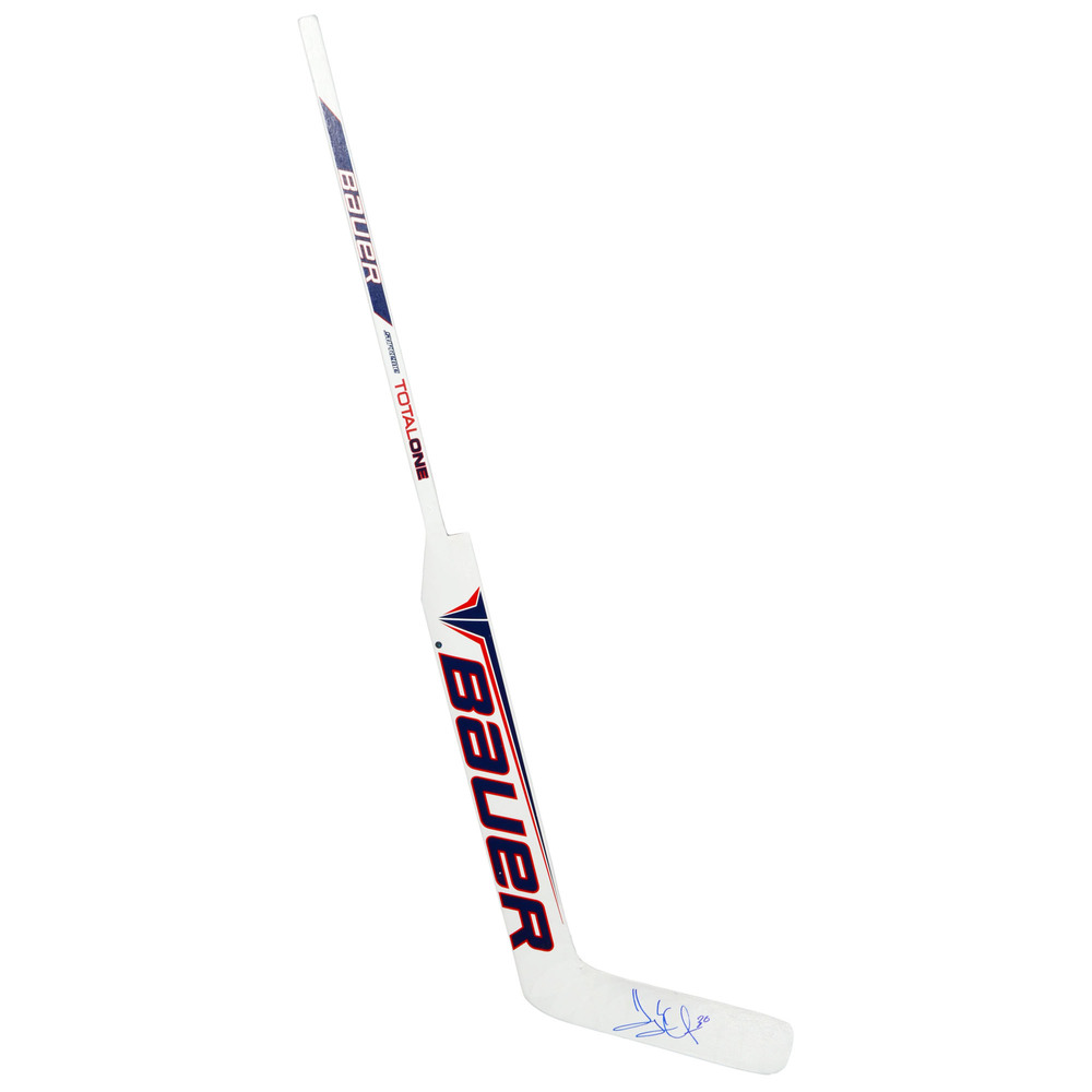 Henrik Lundqvist New York Rangers Autographed Bauer Game Model Hockey Stick - Steiner Sports