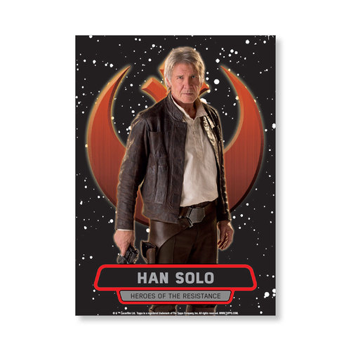 Han Solo TFA Series 2 HEROES OF THE RESISTANCE Poster - # to 99