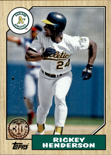 Photo of 2017 Topps '87 Topps #8729 Rickey Henderson