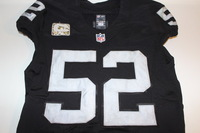 STS - RAIDERS KHALIL MACK GAME WORN AND SIGNED RAIDERS JERSEY (NOVEMBER 6, 2016)