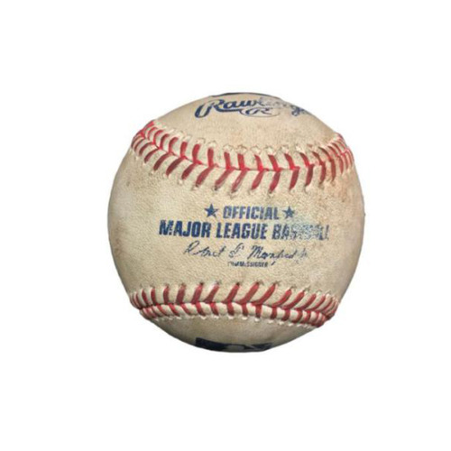 Photo of Game-Used Baseball from Pirates vs. Marlins on 6/11/17 - Yelich Bunt Single, Ozuna Line Out