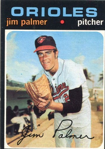 Photo of 1971 Topps #570 Jim Palmer -- Hall of Famer