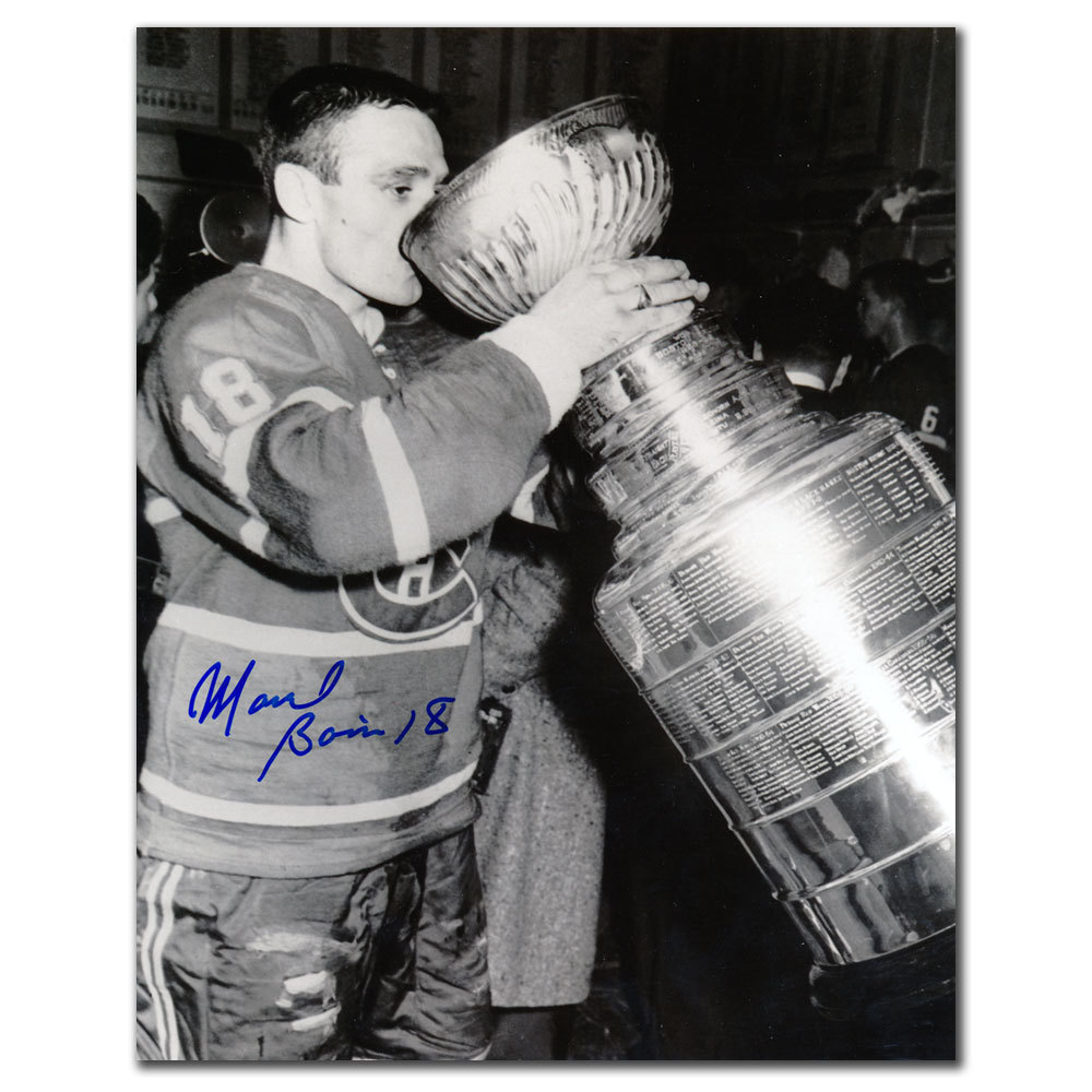 Marcel Bonin Montreal Canadiens STANLEY CUP Autographed 8x10