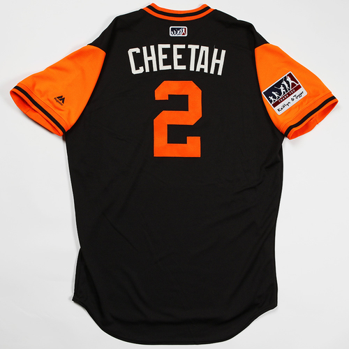 "Photo of Chase ""Cheetah"" D'Arnaud San Francisco Giants Game-Used 2018 Players' Weekend Jersey"