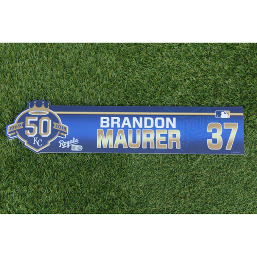 Photo of Game-Used Locker Nameplate: Brandon Maurer