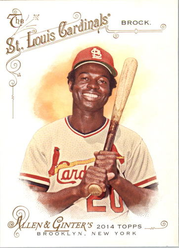 Photo of 2014 Topps Allen and Ginter #94 Lou Brock