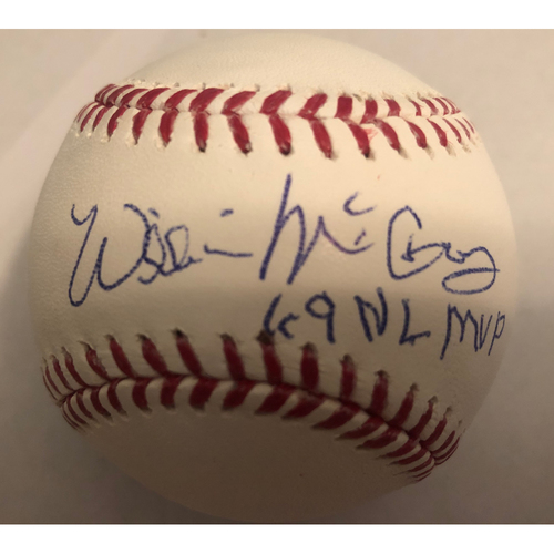 """Photo of Willie McCovey """"69 NL MVP"""" Autographed Baseball"""