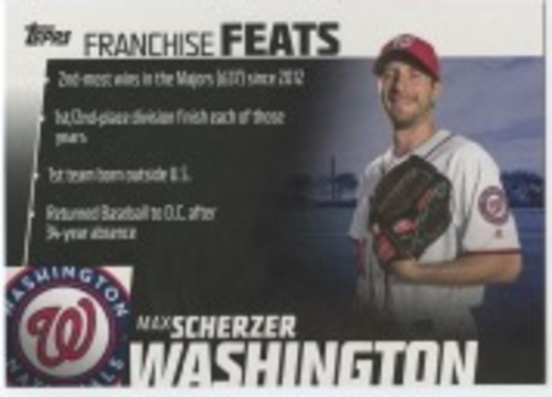 Photo of 2019 Topps Franchise Feats #FF29 Max Scherzer