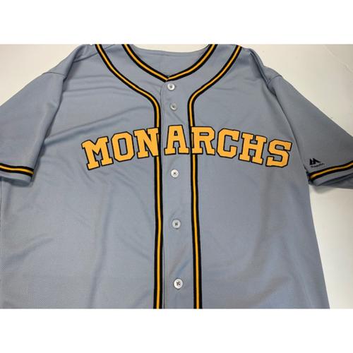 Photo of Team-Issued Kansas City Monarchs Jersey 8-10-2019: Adalberto Mondesi