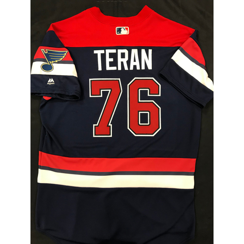 Photo of Kleininger Teran Team Issued 2019 St. Louis Blues Themed Cardinals Jersey (Size 46)