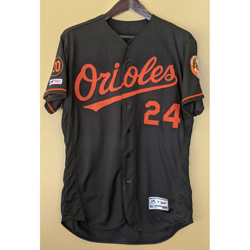 Photo of DJ Stewart - Black Alternate Jersey: Game-Used