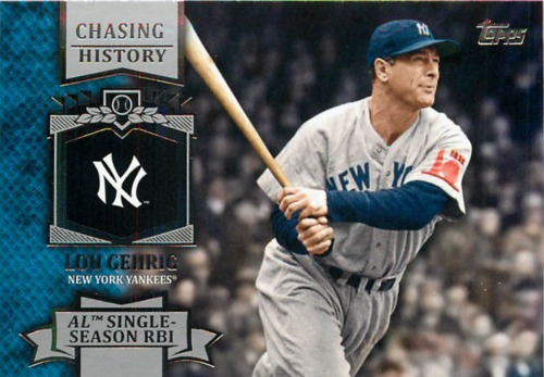 Photo of 2013 Topps Chasing History #CH10 Lou Gehrig